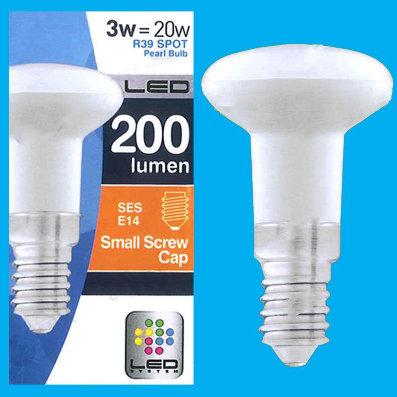 12x 3W (=20W) R39 LED Spot Light Bulb Pearl Lamps SES E14 Top Quality Low Energy