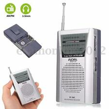 Mini Pocket AM/FM Receiver Radio Player Telescopic Antenna Speaker Portable New