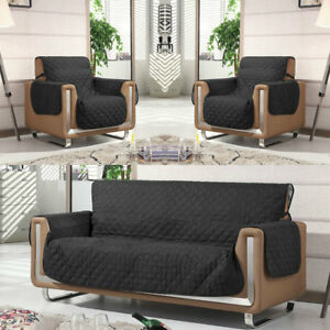 Marvelous Details About Black Quilted Sofa Arm Chair Settee Pet Protector Slip Cover Furniture Throws Download Free Architecture Designs Scobabritishbridgeorg