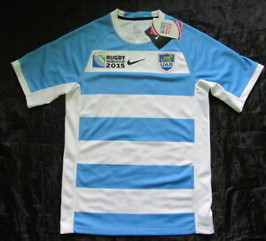 Llorar cuenco Caucho  ARGENTINA RUGBY LOS PUMAS Home Jersey shirt NIKE World Cup 2015 NEW adult  SIZE S | eBay
