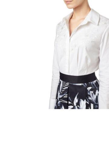 Size 00 Cream Petite 14 18 Embroidered Katy £59 Rrp Precis Sa079 Shirt Oo 4wp6zX