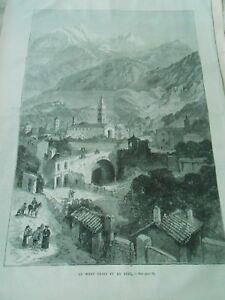 Gravure 1872 - Le Mont Cenis Vue De Suse