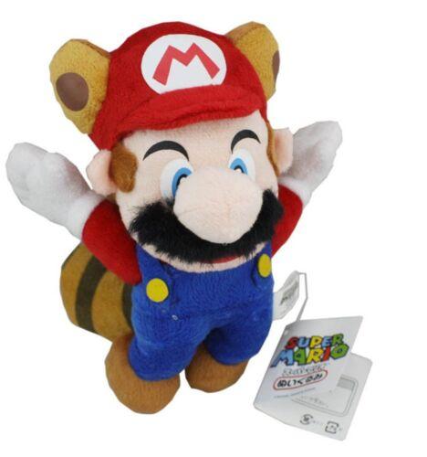 Super Mario Bros Flying Raccoon Tanooki Mario Soft Plush Doll 8 inch Stuffed Toy