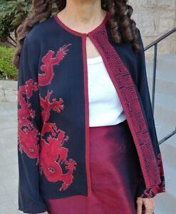 4f235b87e7d Citron Santa Monica Brand Ladies Womens Silk Dragon jacket S Small ...