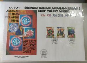 MALAYSIA 2000 Minggu Saham Amanah Unit Trust Week Stamp Large Size Private FDC