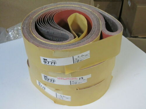 "10 pcs 3M Abrasive Sanding Belts 3/"" x 100/"" 977F Regalloy Cloth Grit 80"