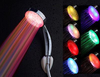 Romantic Automatic 7 Color LED Lights Handing Shower Head Faucet for Bathroom XP