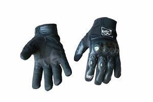 Guanti-moto-pelle-tessuto-Berik-G-10511-BK-estivi-protezioni-rigide