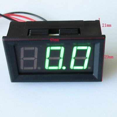 Mini 10A 50A 100A Ammeter Green LED Panel DC 4.5~30V Amp Current Meter Gauge