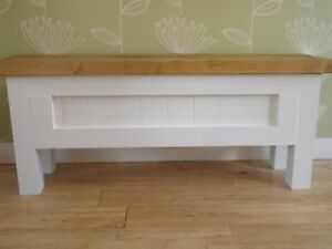 2 x rustic wooden seating bench with storage