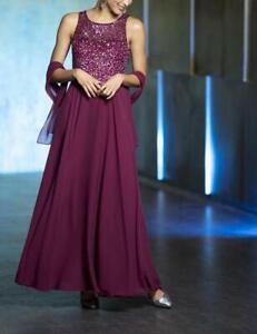 Heine Damen Abendkleid Maxikleid Prinzesskleid Armellos Bordeaux Gr 42 Neu Ebay