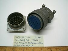 1 An3106b32 8s Military Connector Mating Pair Size 32 Amphenol Lot 490 Made Usa