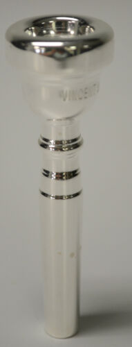 USED VINCENT BACH 7C TRUMPET MOUTHPIECE RE-PLATED