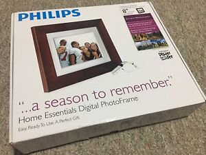 Philips-Photo-Brown-Frame-8-inches-LCD-Panel-Digital-Frame-Stores-1000-photos