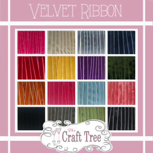 Colourful Luxury Velvet Ribbon in widths 6mm 9mm13mm 16mm cut to length