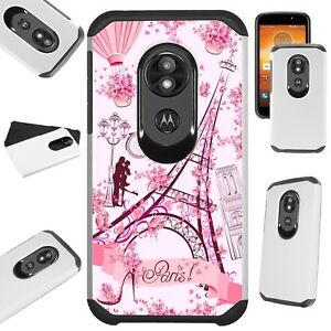 Fusion Case For Motorola Moto G7 Power Supra Plus Phone Eiffel Tower Butterfly Ebay