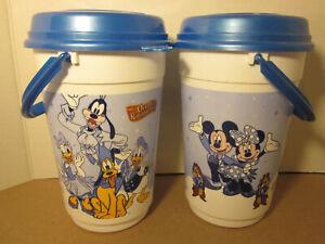 Set of 2 Walt Disney World Orville Redenbacher Popcorn Buckets w/ Lids Mickey