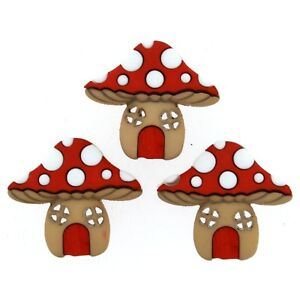 Mushroom-House-Buttons-Toadstool-Button-Fairy-Garden-Woodland-Crafts