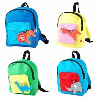New Kids Zoo Animal Backpack School Bag Children Boys Girls Rucksack Lunch Bag