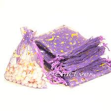 100Schmuckbeutel 9x11cm Organza Beutel Geschenk Verpackung Säckchen lila violett