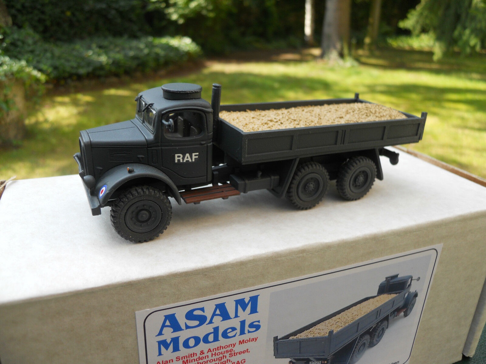 VEHICULE MILITAIRE ASAM MODELS REF HT 294 AUSTIN K6  TIPPER RAF  MINT IN BOX