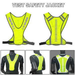 Sicherheitsweste Unfallwesten Reflektierende Warnweste Fahrrad Motorrad DE NEU