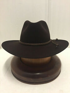 38521795 Stetson Cowboy Hat 6X BeaverFur Chocolate Carson Free Shipping+Brush ...