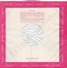 "Vintage INNER SLEEVE or SLEEVES 12"" BORDER red pink MONO poly-lined die-cut x 1"