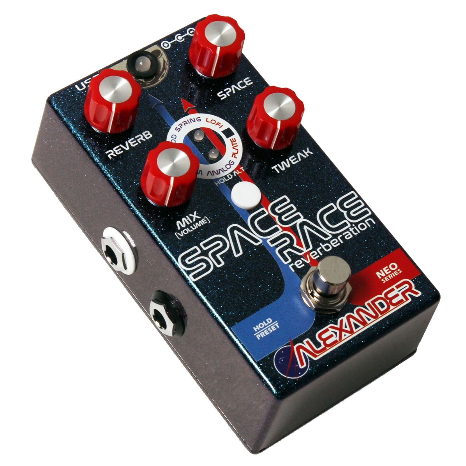 Alexander Space Race Reverberation Reverb Guitar Effects Pedal Stompbox
