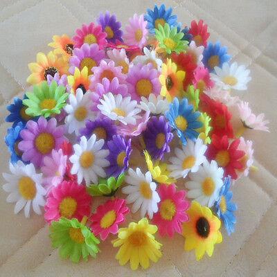 "Multicolor50,100pcs Silk Gerbera Daisy Flower Head Wedding Party Decoration 1.5"""