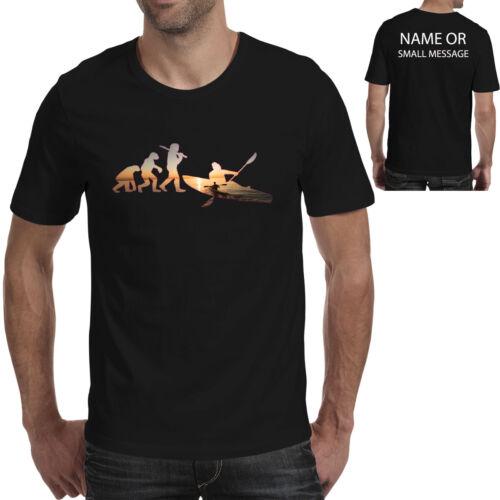 Évolution De Kayak Personnalisé T-Shirt Drôle Cadeau Singe à l/'homme kayak kayakiste