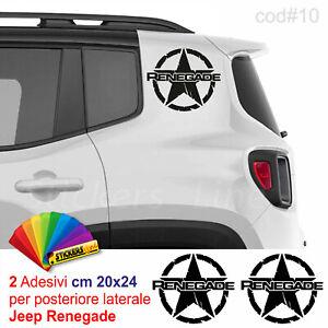 Coppia-adesivi-stella-militare-Jeep-RENEGADE-4X4-auto-us-army-offroad-cod-10