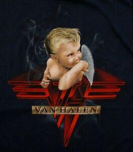 VAN-HALEN-cd-cvr-1984-BABY-SMOKING-Official-BLUE-SHIRT-XXL-2X-new