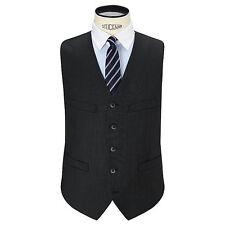 Hackett London 110s Sharkskin Super Wool Waistcoat, Charcoal -Size 46R - BNWT