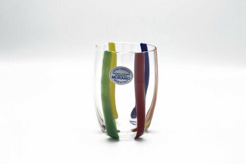 Bicchiere vetro di murano glass soffiato-set bicchieri fatti a mano multicolor