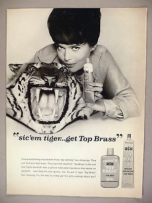 Barbara Feldon PRINT AD - 1965 ~ Top Brass Shampoo & Hair Dressing ...