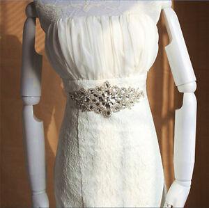 Image Is Loading Handmade Crystals Diamond Rhinestone Bride Wedding Sash Belt