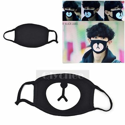 1X Kpop EXO Chanyeol Lucky Bear Black Mouth Mask Chan yeol  2016 New Arrival