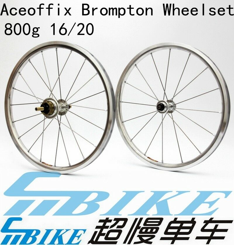 ACE 800g 16  349 wheels set for Brompton Bicycle 2 or 3 speed