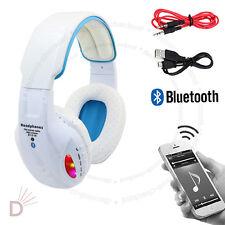 LED Wireless Bluetooth 4.2 White Headphone Stereo Music Headset Super Bass UKDC