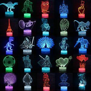 3D-Illusion-LED-Nachtlicht-7-Farbe-Licht-Schreibtisch-Tischlampe-Nachtlampe-Deko