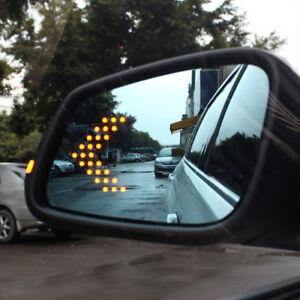 2X-SMD-14-LED-Arrow-Panel-Car-Rear-View-Side-Mirror-Indicator-Turn-Signal-Light