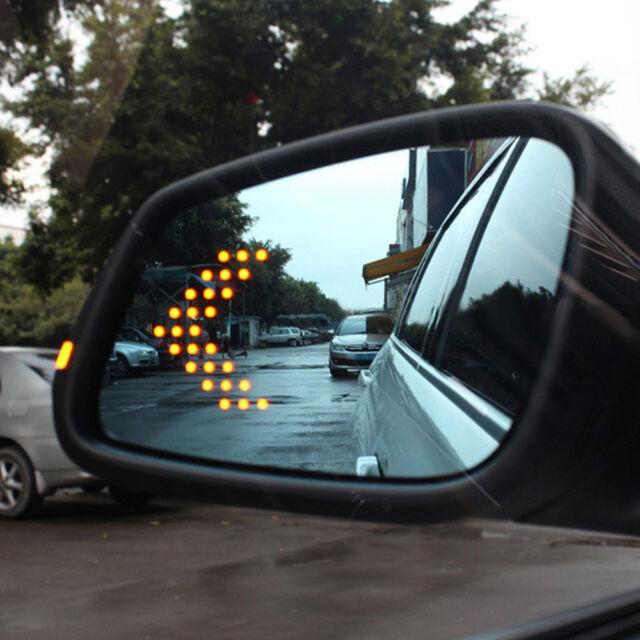 2X SMD 14 LED Arrow Panel Car Rear View Side Mirror Indicator Turn Signal Light