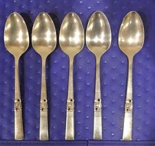 "5 ONEIDA COMMUNITY "" MORNING STAR ""Teaspoons 6-1/8"" B"