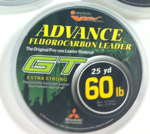 CLEAR EUPRO GT FLUOROCARBON 15lb 25 YARD SPOOL 100lb LEADER LINE