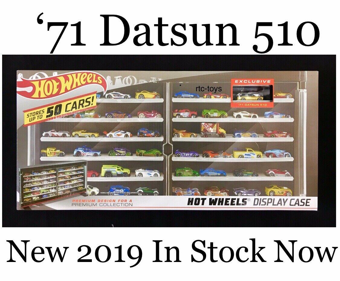2019 HOT Wtalons 50  voiture Display Case'71 DATSUN 510 jaune Premium Collector Voiture  vente en ligne