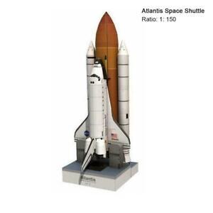 1:150 Scale 34cm Space Shuttle Atlantis 3D Puzzle Paper Model Gift DIY A6A9