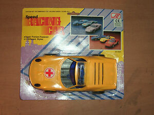 80'S VINTAGE FRICTION POWERED SPEED RACING TEM AMBULANCE MOC