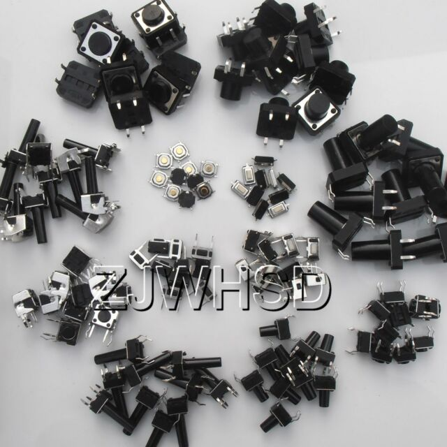 120pcs 12types Momentary Tact Tactile Push Button Switch SMD Assortment Kit Set