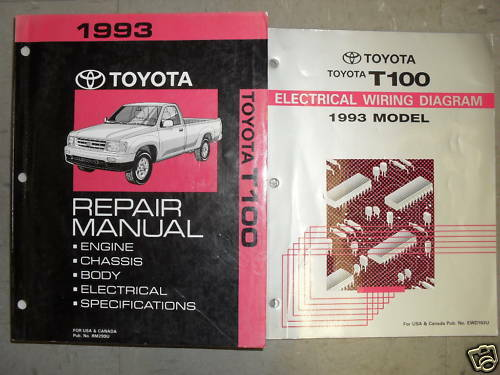 1993 Toyota T100 Truck Service Shop Repair Workshop Manual Set Oem W Ewd